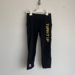 Soulcycle Lululemon pace rival crop size 6